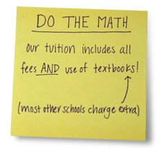 Books are included in tuition!